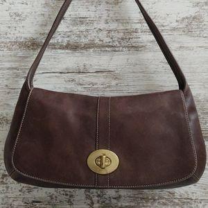 ⚂Coach Legacy Ergo Flap Brown Leather Bag